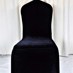 Chair Cover Black Velvet