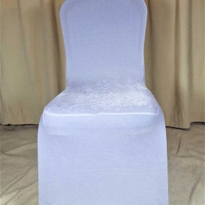 Chair Cover White Velvet