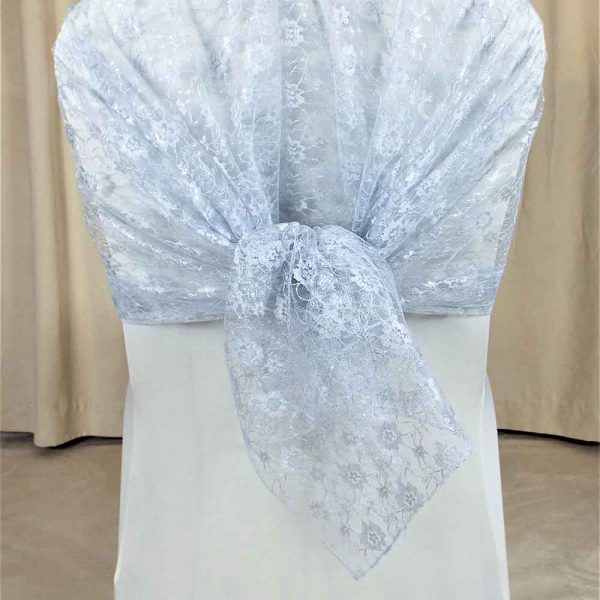 Drapes and Hoods Silver Lace