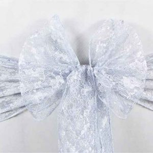 Sashes Lace Silver